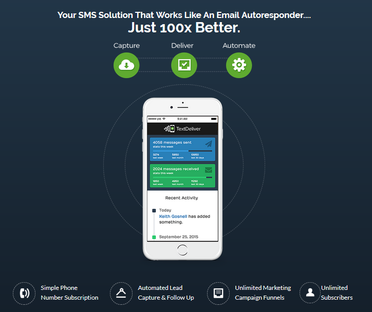 TextDeliver SMS App Software By Mark Thompson