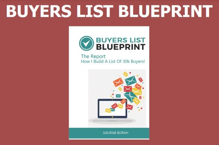 Buyers List Blueprint By Gaurab Borah