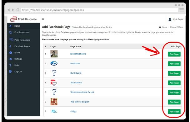 Credi Response Facebook App Software By Cyril Gupta