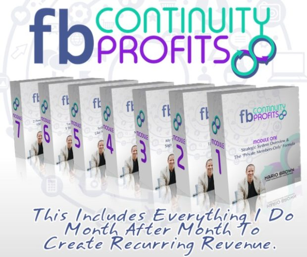 Mario Brown's FB Continuity Profits Training Formula by Mario Brown