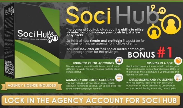 SociHub Social Media Software Agency License by Paul OKeeffe