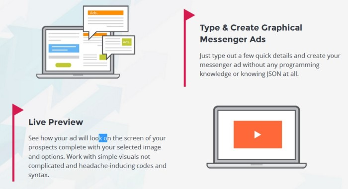 ClickMSG Facebook Messenger Ads App Software by Brad Stephens
