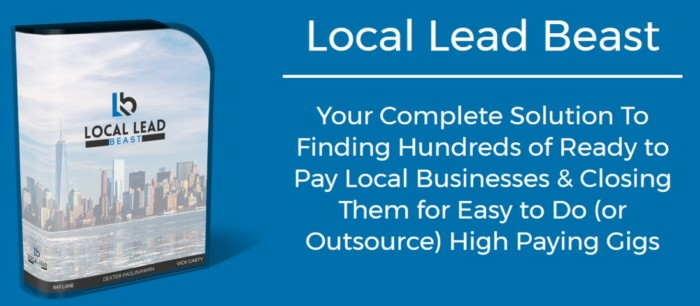 Local Lead Beast Software by Ray Lane