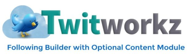 Twitworkz Following Builder With Optional Content Module by Hugh Hitchcock