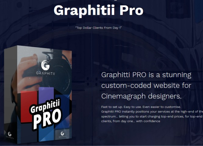 Graphitii Pro Video Cinemagraphs Software by Joey Xoto Viddyoze