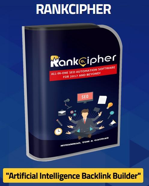 Rank Cipher SEO Backlink Software by Tom Yevsikov