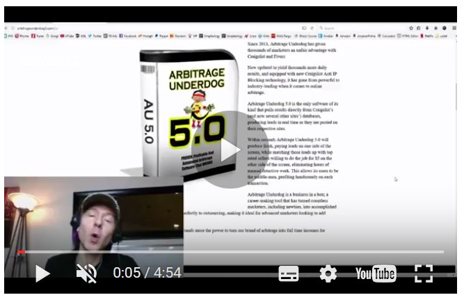 Arbitrage Underdog 5.0 Software by Tom E