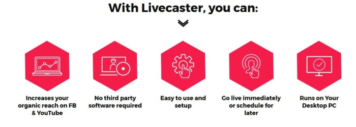 LiveCaster Livecasting Software by Cyril Gupta