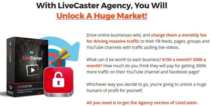 Livecaster Agency by Cyril Gupta