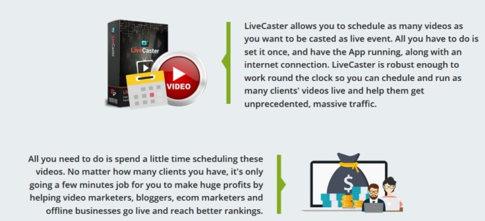 Livecaster Agency Livecasting Software by Cyril Gupta