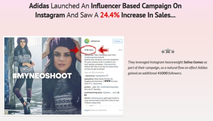 InstaEngage Influencer Instagram App Software by Emma Anderson