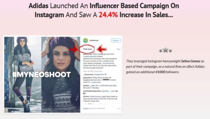 InstaEngage Influencer Instagram App Software by Emma Anderson