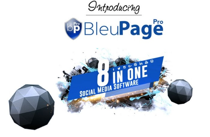 BleuPagePro One Click Social Media Publisher Social Media Management Tool by Lance Robinson