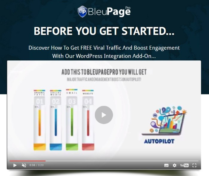 BleuPagePro Total WordPress Management Software Upgrade OTO by Lance Robinson