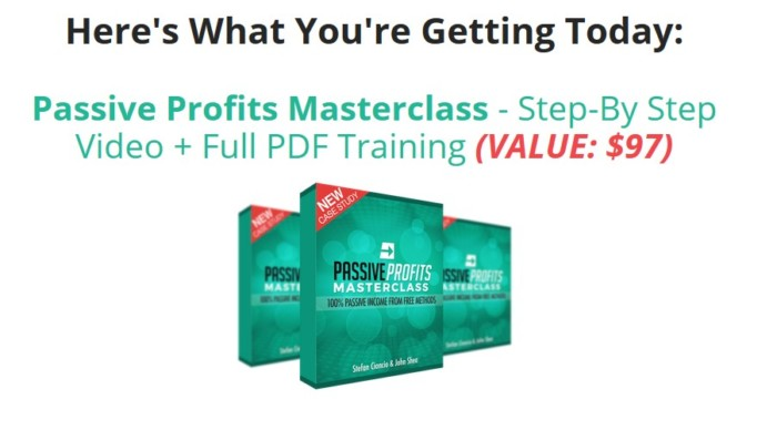 Passive Profits Masterclass Training System by Stefan Ciancio