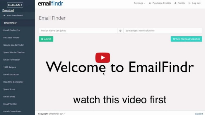 EmailFindr Software by Ankur Shukla