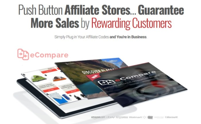 ECompare Affiliate eCom Comparison Engine Software by Mark Bishop