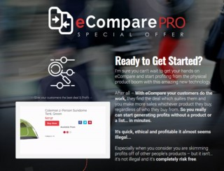 ECompare Pro Special Offer Upgrade OTO by Mark Bishop