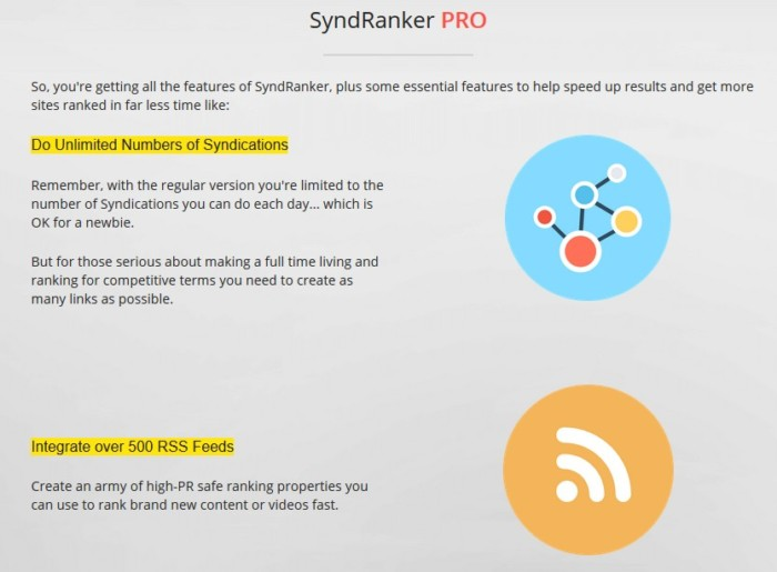 SyndRanker PRO Version Unlimited Upgrade OTO by Neil Napier