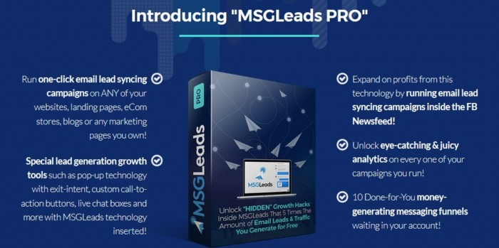 MSGLeads Pro Upgrade OTO by Brad Stephens