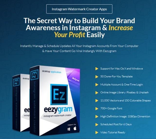 Eezygram Instagram Watermark Creator Apps Software by Agus Sakti