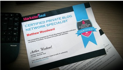 Private Blog Network Specialist Certification Training Course by Matthew Woodward