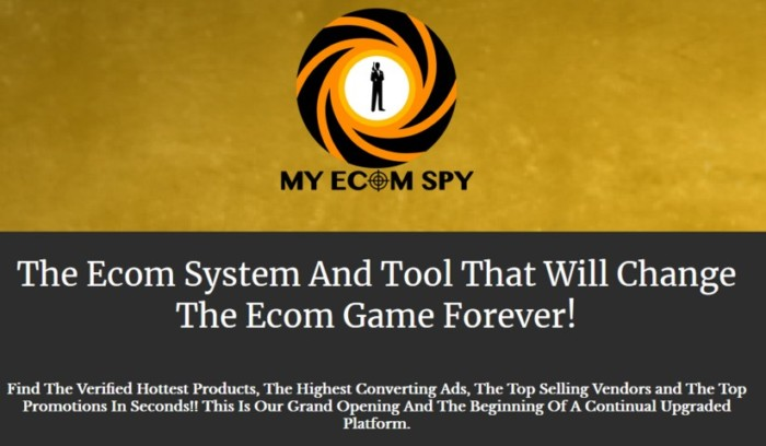 My Ecom Spy The Ecom System And Tool by James Renouf