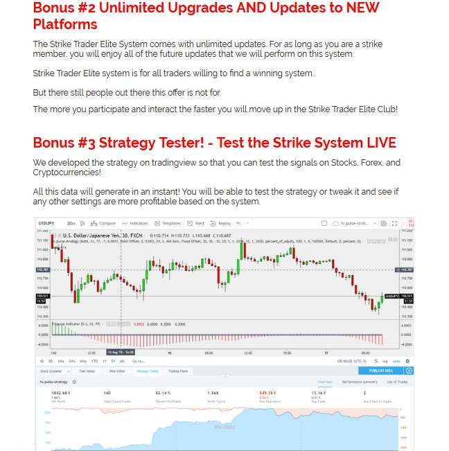 Strike Trader Elite Trading System | JVZOO RESEARCH